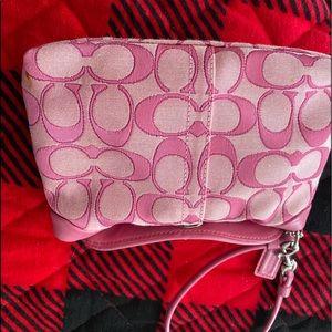Coach wristlet - pink signature print